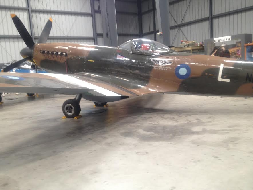 The spitfire in the CAF hanger