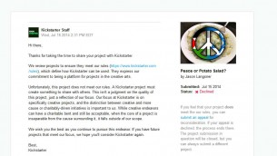 Kickstarter:  Peace or Potato Salad?