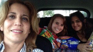 Delivering treats to soldiers guarding the Iron Dome