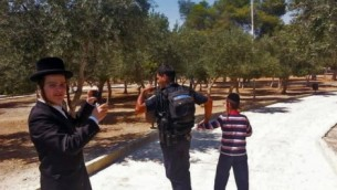 Minor being arrested on the Temple Mount (Photo credit: The Temple Institue)