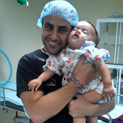 Dr. Talei with a patient