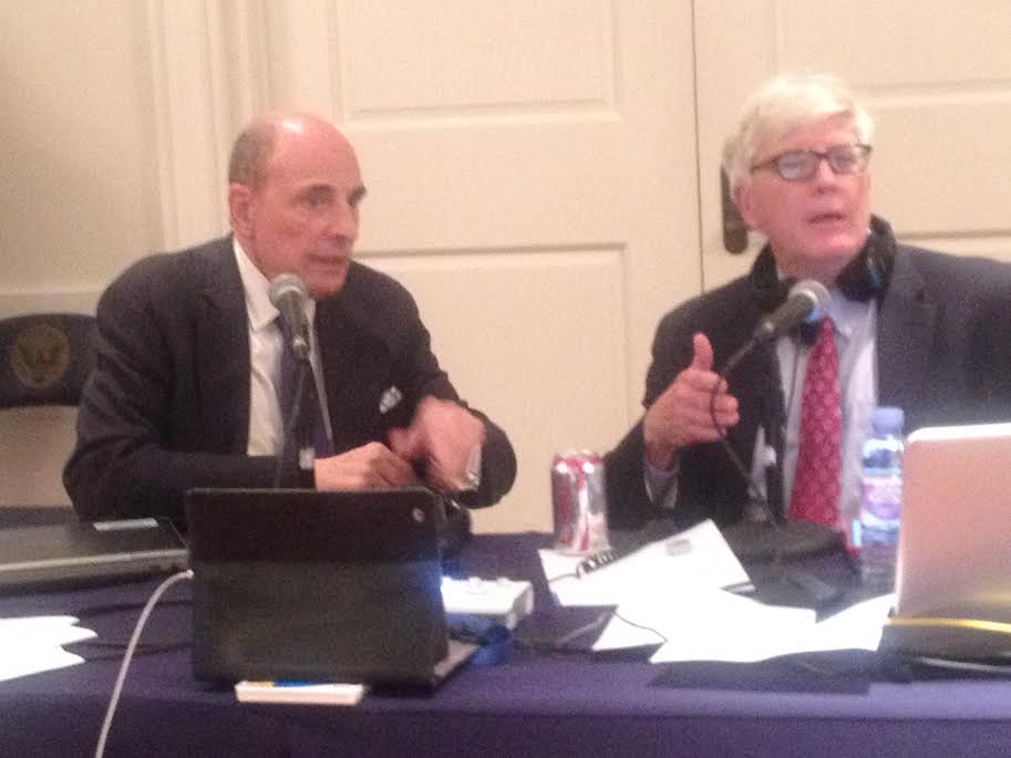 Hugh Hewitt on right and Edward Klein