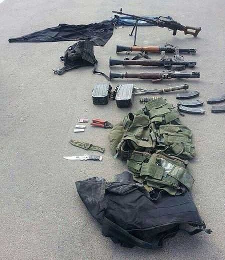 Hamas weapons seized by the IDF