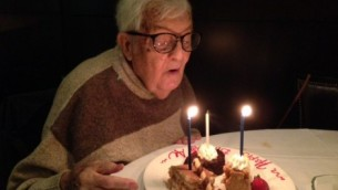 The author's grandpa on his 90th birthday