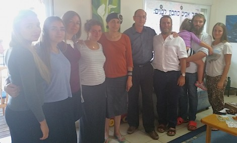 With Ofir and Bat-galim, parents of Gil-ad shaar