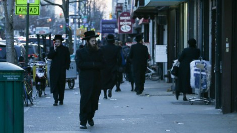 Illustration. Street view of the mainly ultra-Orthodox neighborhood of Borough Park, New York. (photo credit: Nati Shohat/Flash 90)