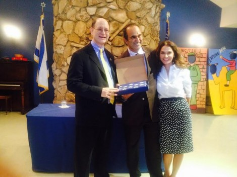 From L-Congressman Brad Sherman, David and Angella Nazarian-Photo Nurit Greenger