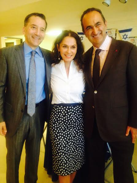 From L-Rabbi David Wolpe, Angella and David Nazarian-Photo Nurit Greenger