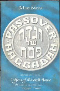 Maxwell House Passover haggadah delux edition