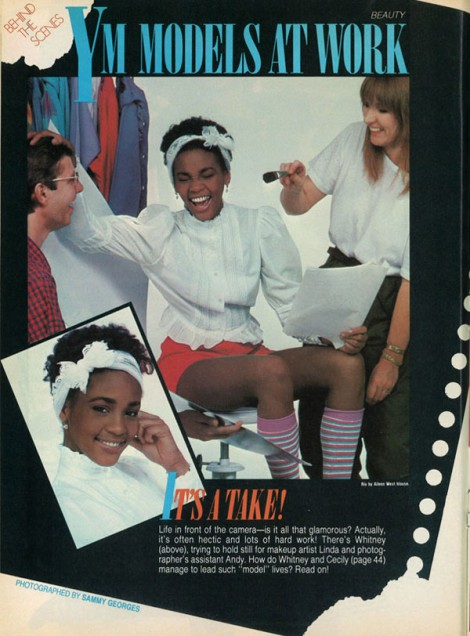 Yup! That's Whitney! [Scan of YM magazine, circa early 80's]