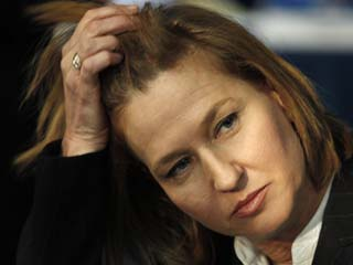 """Israeli Justice Minister and Hatnuah Party Leader Tzipi Livni"""