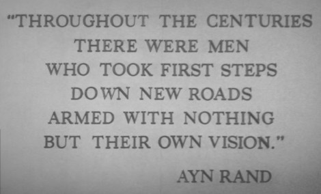 Quote by Ayn Rand. Image by Cory Doctorow