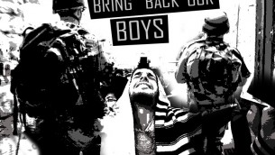 Bring Back Our Boys by Dan Groover - Stencil Sketch - En souvenir des trois adolescents enlevés et assassinés à l'été 2014