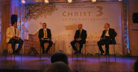 Palestinian Christians tell their story at the 2014 Christ at the Checkpoint Conference. (Photo: Dexter Van Zile)