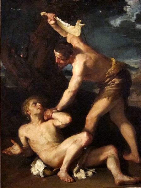 painting of Cain Killing Abel
