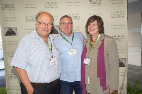 L-Yossie Vardi-Co-Chair, Noam Bardin CEO of Waze, Sharona Justman Co-Chair-Photo Orly Halevy