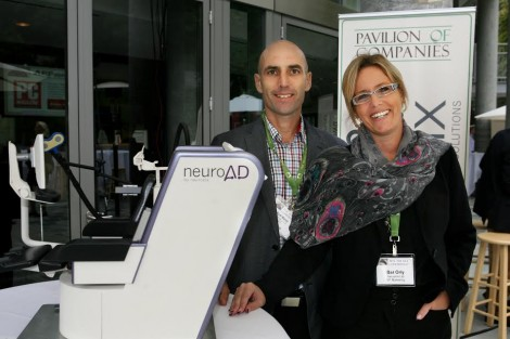 R-Orly Bar, VP Marketing and Eyal Baror CEO-Beuronix-Integrated Neurological Solutions-Photo Orly Halevy