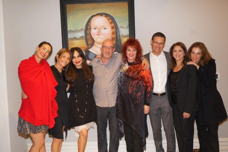 Shanti House-From L-Gisel Armoni, Sary Yogev, Yosi and Alisa Simsoly, Mariuma Ben-Yosef, Consul General of Israel David Siegel, Myra Siegel, Actress Ayalet Zorer-Photo Orly Halevy