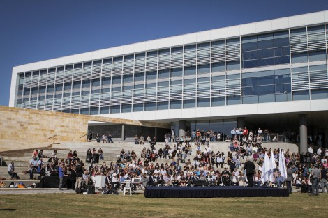 Opening ceremony at the new, state of the art faculty building  at the School of Management.
