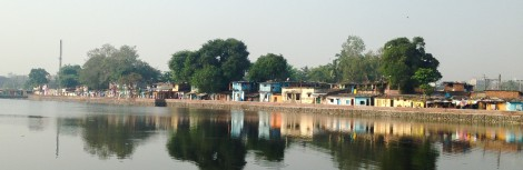 View of the Kalwa slum