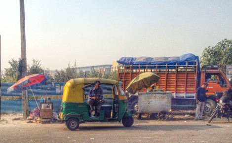 Welcome to New Delhi! The ubiquitous auto rickshaw. Photo: Laura Ben-David