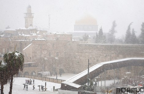 rare snow storm in jerusalem