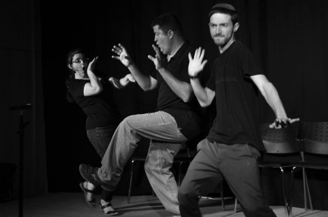 Members of the First City Improv Troupe having a great time using the 'rules of Improv'. (Photo Credit: GlassHat Media)