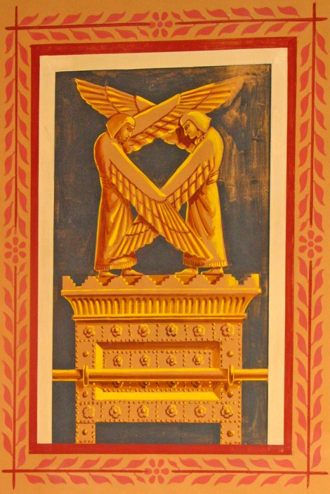 Mural of the Ark of the Covenant with cherubim