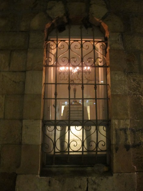 Chanukah Candelabra in Arched Window © 2014 by Heddy Abramowitz