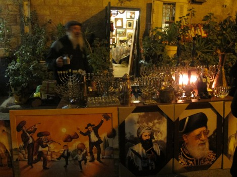 Collector's Chanukiot Display c. 2014 by Heddy Abramowitz