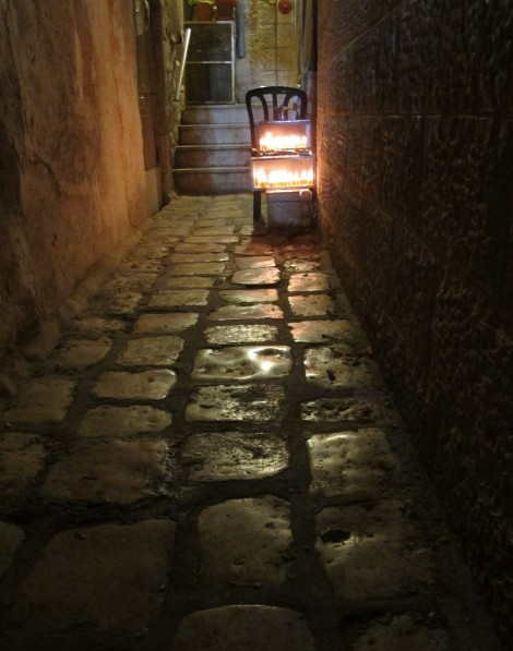 Chanukah Lights in the Alleyway  © 2014 by Heddy Abramowitz