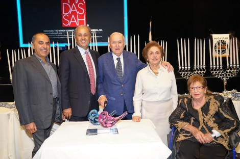 Hadassah 2014 -From R-With Mrs. Katherine Merage,  with the honorees Mehry and Mansour Sinai and their sons-Photo by Orly Halevy