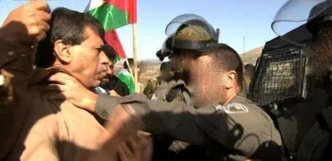 Why were the security forces blocking access? (image: screengrab)