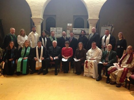Interfaith Clergy Thanksgiving service 11-25-14