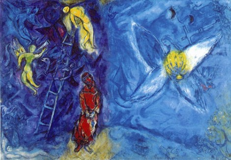 Jacob's Dream by Marc Chagall (1966) at Musée National Message Biblique Marc Chagall, Nice, France