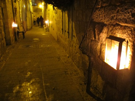 Chanukah Lamps Lit at Doorways  © 2014 by Heddy Abramowitz