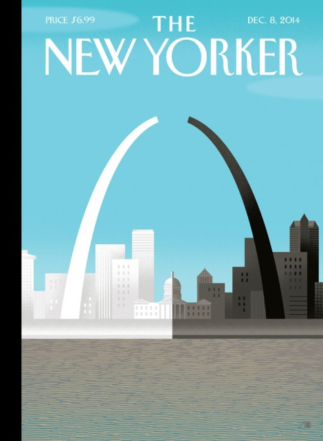 The New Yorker Magazine cover for December 8, 2014 illustrated by Bob Staake