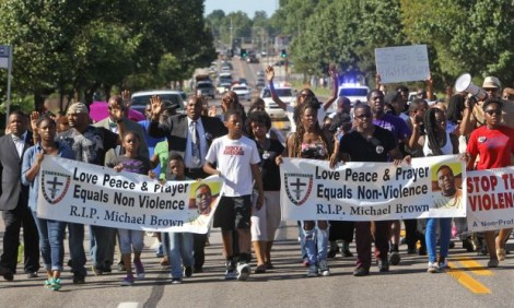 Peaceful protest in Ferguson