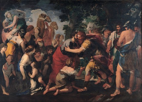 Raffaellino Bottalla, Meeting between Esau and Jacob