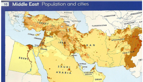 HarperCollins map shows how tiny Israel is, IF you can find Israel on this map.