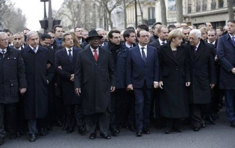 World Leaders March in Paris