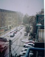 Snow in the Kiryat Moshe neighborhood of Jerusalem, 2004
