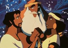 Scene from The Prince of Egypt (1998) animated movie