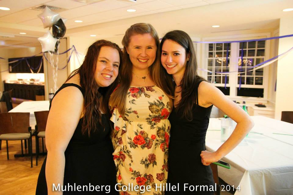 Members of Muhlenberg Hillel at Spring Formal 2014.