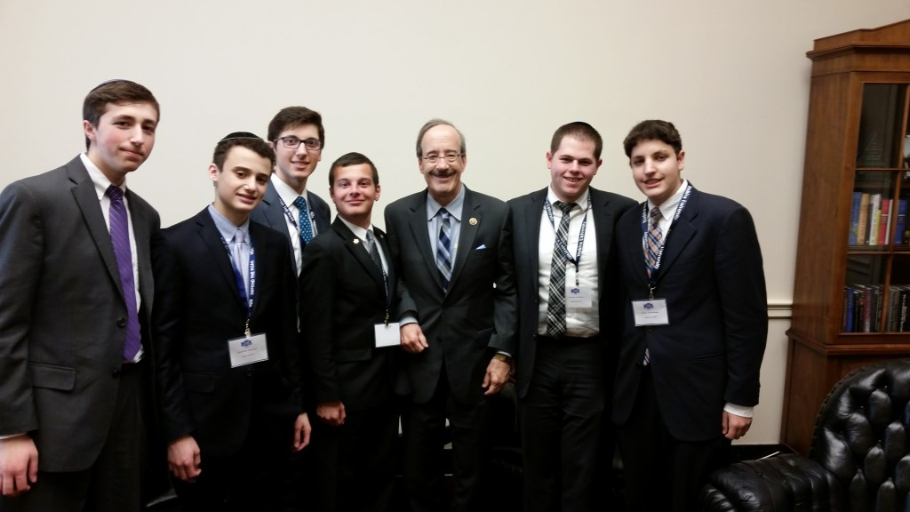 With Congressman Eliot Engel in his office.