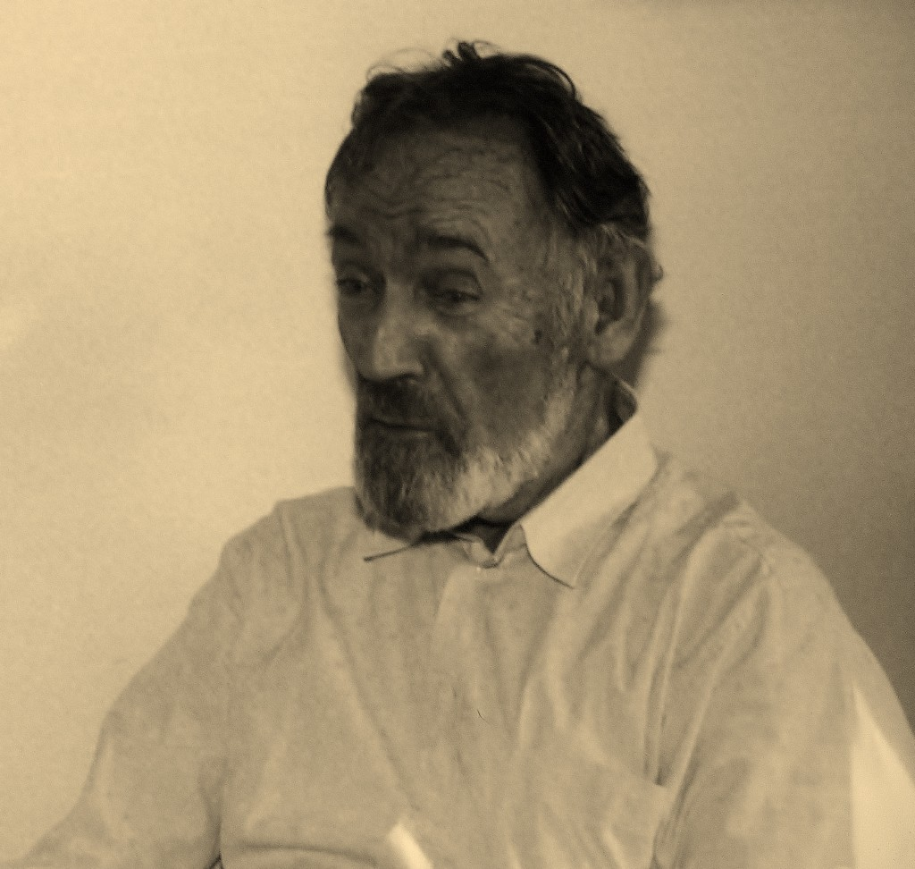 HILLEL KOOK at his home in Kfar Shmaryahu, 1993 Photo by Joanna M. Saidel