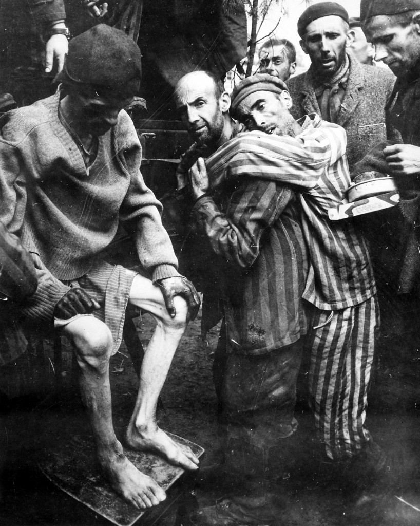 Survivors of the Wöbbelin concentration camp, 1945 (Photo credit: U.S. Army - Public domain)