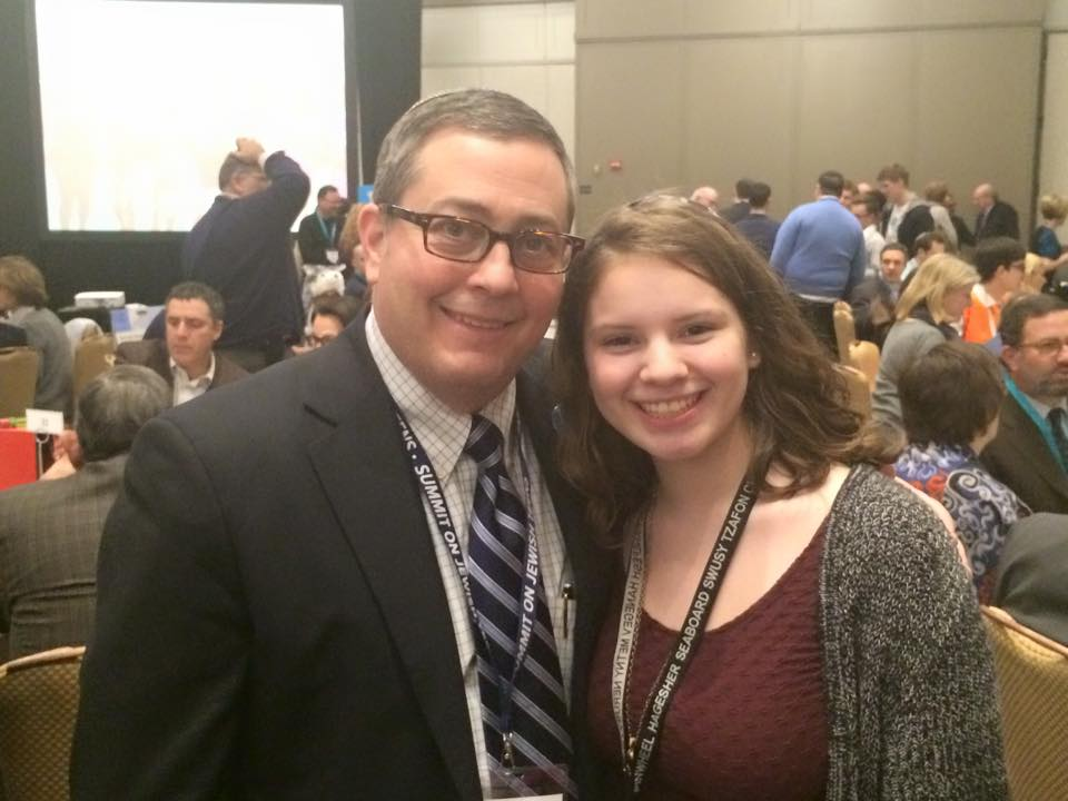 Jeremy Fingerman meets with Hailee Grey at the Summit on Jewish Teens in Atlanta