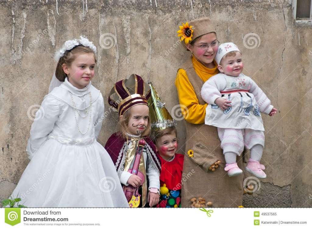 Israeli children dressed up for Purim Carnival