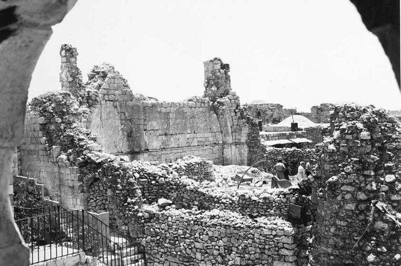 Ruins of the Hurva Synagogue destroyed in 1948.